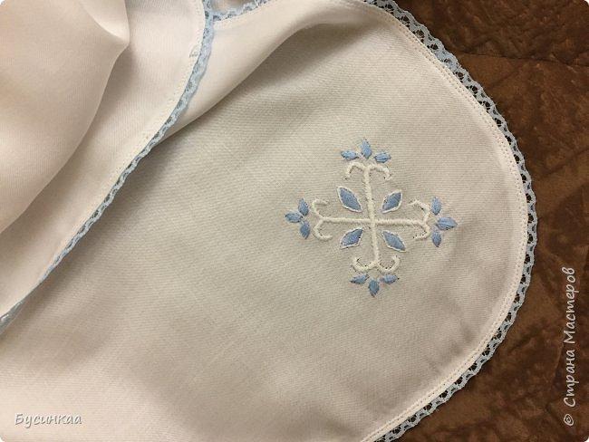 Крещение, важное событие в жизни православного человека, а Крестильная рубашечка, это символ чистоты души. Эту рубашечку я сшила для своего любимого внука, шила с особым трепетом и любовью. фото 6