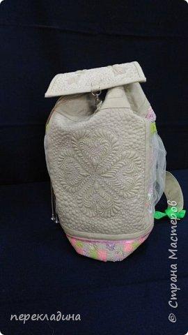 Летний рюкзак изо льна. фото 2