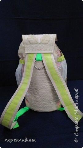 Летний рюкзак изо льна. фото 3