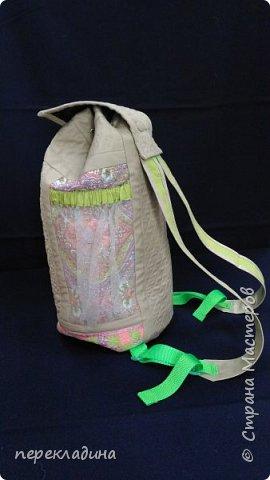Летний рюкзак изо льна. фото 5