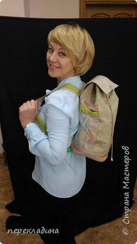Летний рюкзак изо льна. фото 1