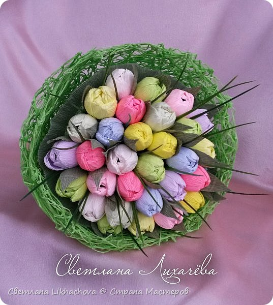 Букет тюльпанов из конфет фото 1