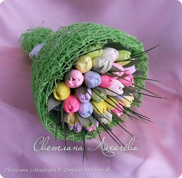 Букет тюльпанов из конфет фото 2