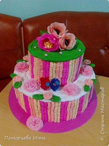 Такой тортик мы делали на юбилей сада,идея из страны. фото 2