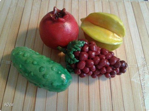 """Такие """"вкусные""""овощи и фрукты слепились у меня для маленького Демида.Всего 40 штук. фото 5"""