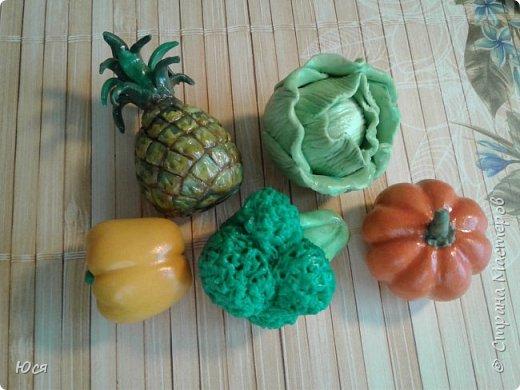 """Такие """"вкусные""""овощи и фрукты слепились у меня для маленького Демида.Всего 40 штук. фото 9"""