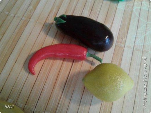 """Такие """"вкусные""""овощи и фрукты слепились у меня для маленького Демида.Всего 40 штук. фото 6"""