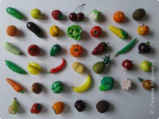 """Такие """"вкусные""""овощи и фрукты слепились у меня для маленького Демида.Всего 40 штук. фото 10"""