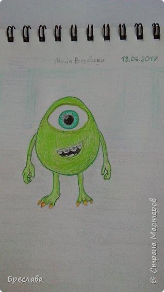 """Рисунок на конкурс """"Персонажи Pixar"""" http://stranamasterov.ru/node/1100771#comment-14783636. Думаю, этого персонажа представлять не нужно. фото 2"""