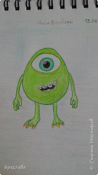 """Рисунок на конкурс """"Персонажи Pixar"""" http://stranamasterov.ru/node/1100771#comment-14783636. Думаю, этого персонажа представлять не нужно. фото 3"""