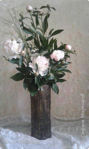 Сделала себе вазу для высоких цветов. фото 1