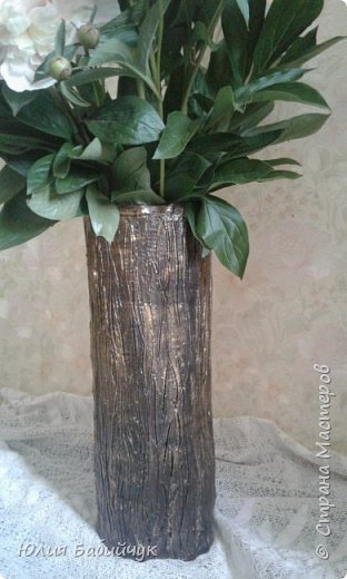 Сделала себе вазу для высоких цветов. фото 2