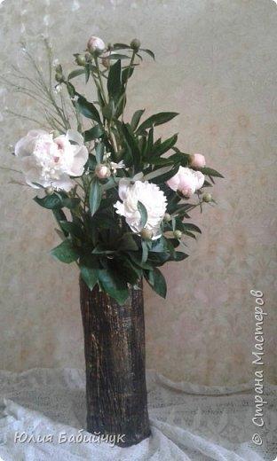 Сделала себе вазу для высоких цветов. фото 3