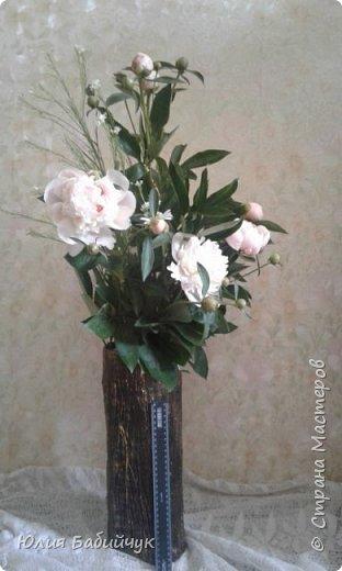 Сделала себе вазу для высоких цветов. фото 4