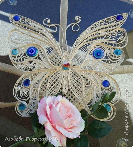 Бабочка из джута (заготовка для панно) фото 1
