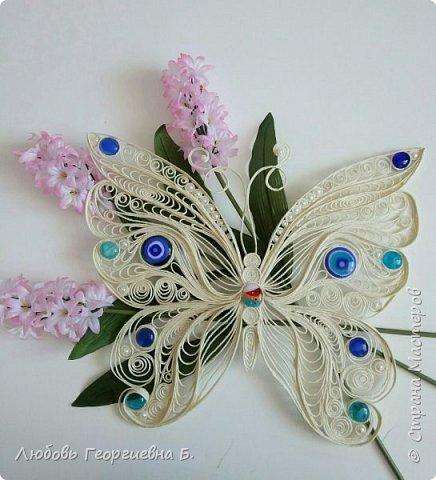 Бабочка из джута (заготовка для панно) фото 2