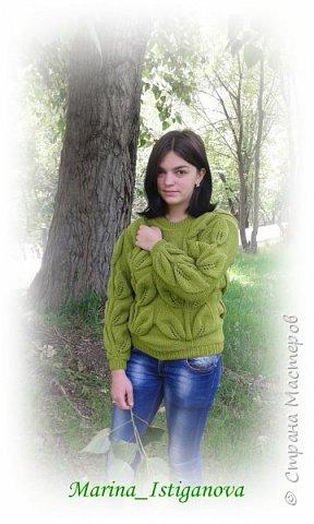 Свитер с крупными листьями (еще один) фото 4
