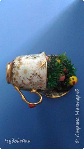 Вот такая чашка в подарок сестре на день рождение у меня получилась. фото 2