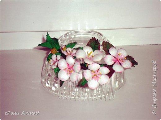 украшение для волос-гребни со цветами фото 2