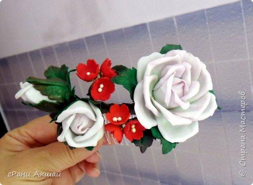 украшение для волос-гребни со цветами фото 1