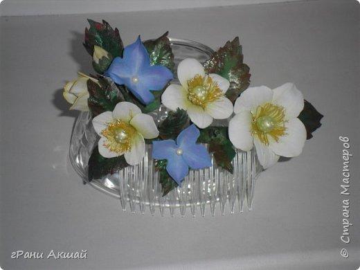 украшение для волос-гребни со цветами фото 6