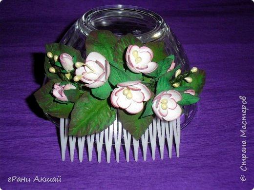 украшение для волос-гребни со цветами фото 4