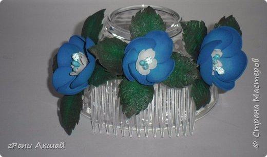 украшение для волос-гребни со цветами фото 5