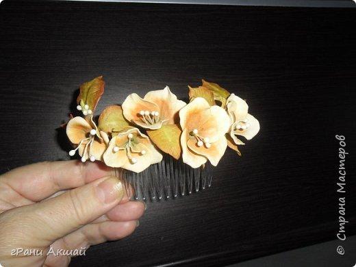 украшение для волос-гребни со цветами фото 8