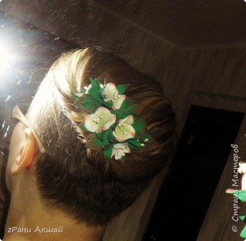 украшение для волос-гребни со цветами фото 12