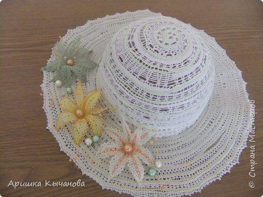 Хочу поделиться с вами своей авторской кружевной шляпкой. фото 1