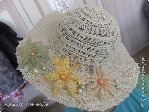 Хочу поделиться с вами своей авторской кружевной шляпкой. фото 3