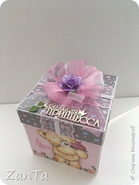 В этом посте покажу коробочки, которые у меня сотворились. Это Magic box на рождение принцессы. фото 2