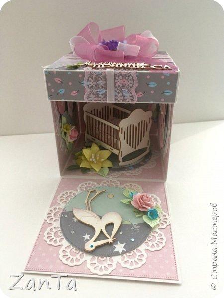В этом посте покажу коробочки, которые у меня сотворились. Это Magic box на рождение принцессы. фото 4