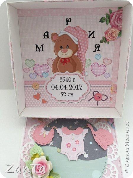 В этом посте покажу коробочки, которые у меня сотворились. Это Magic box на рождение принцессы. фото 3