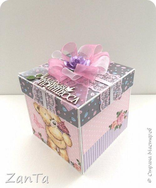 В этом посте покажу коробочки, которые у меня сотворились. Это Magic box на рождение принцессы. фото 9