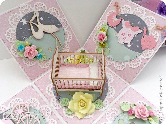 В этом посте покажу коробочки, которые у меня сотворились. Это Magic box на рождение принцессы. фото 8