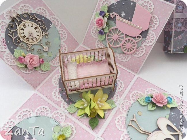 В этом посте покажу коробочки, которые у меня сотворились. Это Magic box на рождение принцессы. фото 7