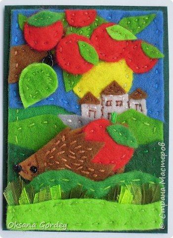 """Это мои карточки по первому этапу игры """"Детские игрушки в формате АТС"""" (об игре можно прочитать здесь  - http://stranamasterov.ru/node/1098610 ) . Вдохновившись фетровыми детскими книжками-развивайками, сделала вот таких ежиков. фото 15"""