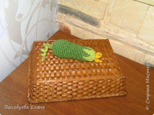 Мои авторские овощи связанные для деток. акрил, крючок №2 фото 2
