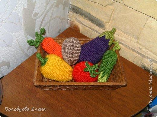 Мои авторские овощи связанные для деток. акрил, крючок №2 фото 1