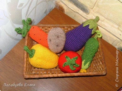 Мои авторские овощи связанные для деток. акрил, крючок №2 фото 8