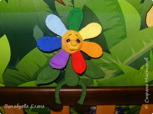 Цветик был связан в он-лайне на Меджикленд.су. Автор игрушки Nastya oren фото 2