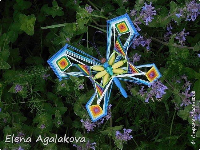 Хочу показать плетение Мандалы-Бабочки. Это достаточно простое плетение, которое несложно освоить.  Бабочка — символ души, бессмертия, возрождения и воскресения, способности к превращениям, к трансформации, символ жизни, любви и счастья. Бабочки очень гранциозные создания! Эта мандала украсит ваш дом и будет радовать вас в любое время года! фото 53