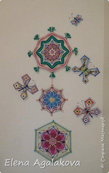 Хочу показать плетение Мандалы-Бабочки. Это достаточно простое плетение, которое несложно освоить.  Бабочка — символ души, бессмертия, возрождения и воскресения, способности к превращениям, к трансформации, символ жизни, любви и счастья. Бабочки очень гранциозные создания! Эта мандала украсит ваш дом и будет радовать вас в любое время года! фото 52