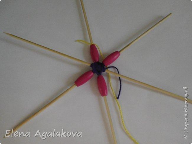 Хочу показать плетение Мандалы-Бабочки. Это достаточно простое плетение, которое несложно освоить.  Бабочка — символ души, бессмертия, возрождения и воскресения, способности к превращениям, к трансформации, символ жизни, любви и счастья. Бабочки очень гранциозные создания! Эта мандала украсит ваш дом и будет радовать вас в любое время года! фото 11