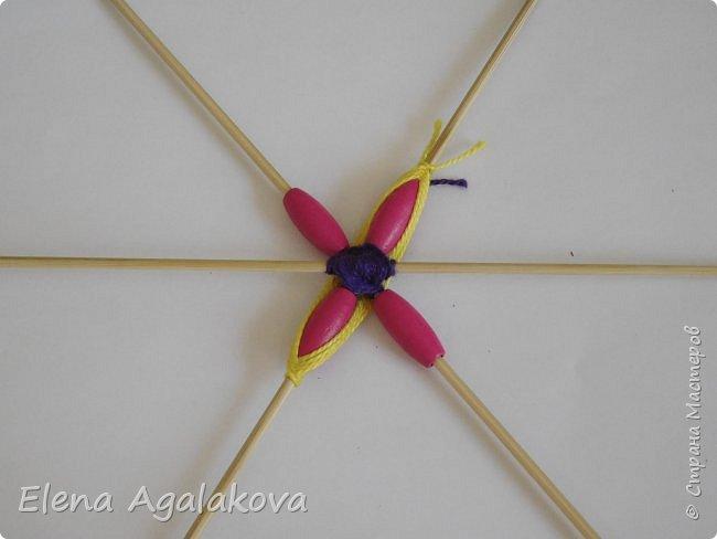 Хочу показать плетение Мандалы-Бабочки. Это достаточно простое плетение, которое несложно освоить.  Бабочка — символ души, бессмертия, возрождения и воскресения, способности к превращениям, к трансформации, символ жизни, любви и счастья. Бабочки очень гранциозные создания! Эта мандала украсит ваш дом и будет радовать вас в любое время года! фото 13