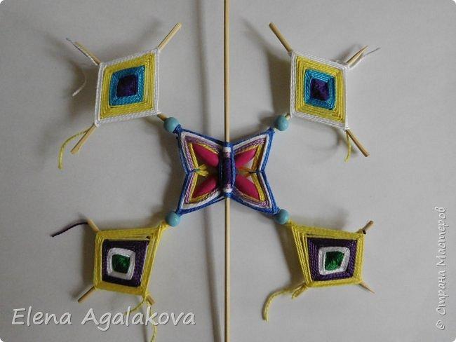 Хочу показать плетение Мандалы-Бабочки. Это достаточно простое плетение, которое несложно освоить.  Бабочка — символ души, бессмертия, возрождения и воскресения, способности к превращениям, к трансформации, символ жизни, любви и счастья. Бабочки очень гранциозные создания! Эта мандала украсит ваш дом и будет радовать вас в любое время года! фото 38