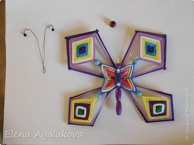 Хочу показать плетение Мандалы-Бабочки. Это достаточно простое плетение, которое несложно освоить.  Бабочка — символ души, бессмертия, возрождения и воскресения, способности к превращениям, к трансформации, символ жизни, любви и счастья. Бабочки очень гранциозные создания! Эта мандала украсит ваш дом и будет радовать вас в любое время года! фото 48