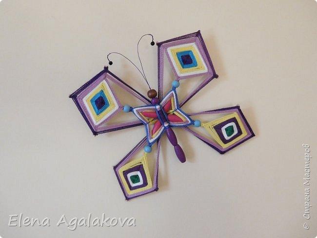 Хочу показать плетение Мандалы-Бабочки. Это достаточно простое плетение, которое несложно освоить.  Бабочка — символ души, бессмертия, возрождения и воскресения, способности к превращениям, к трансформации, символ жизни, любви и счастья. Бабочки очень гранциозные создания! Эта мандала украсит ваш дом и будет радовать вас в любое время года! фото 1