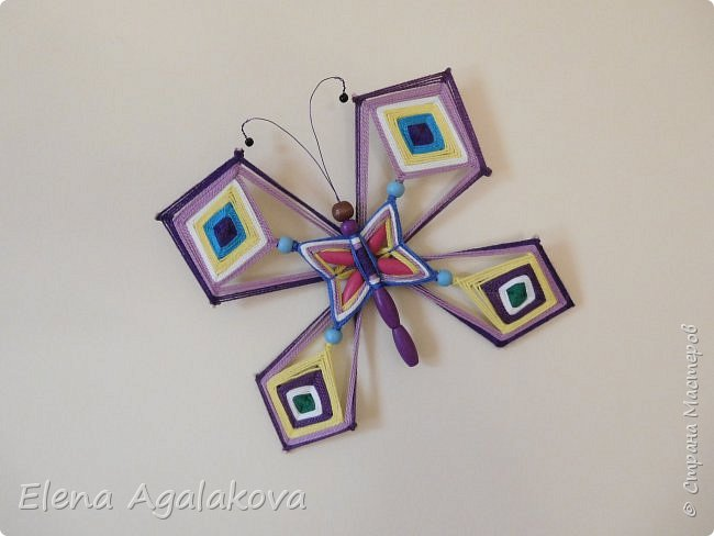 Хочу показать плетение Мандалы-Бабочки. Это достаточно простое плетение, которое несложно освоить.  Бабочка — символ души, бессмертия, возрождения и воскресения, способности к превращениям, к трансформации, символ жизни, любви и счастья. Бабочки очень гранциозные создания! Эта мандала украсит ваш дом и будет радовать вас в любое время года! фото 50